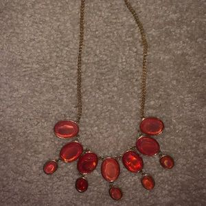 Iridescent Orange Accent Necklace